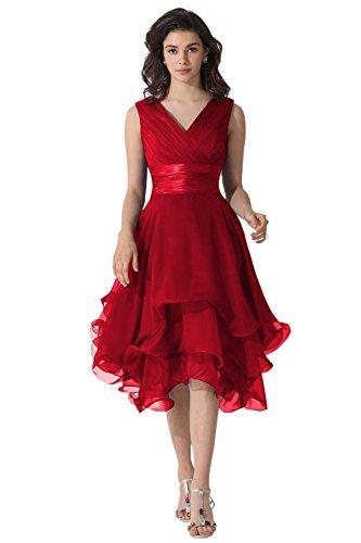Dora Bridal V-Neck Chiffon Mother Of The Bride Dresses Si...