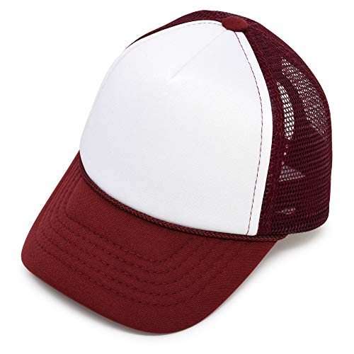 - DALIX Infant Trucker Hat Baby Cap Tiny Extra Small Girls Boys in Maroon White
