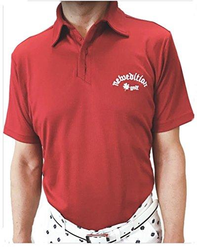 【NewEdition GOLF®】速乾?吸収スポーツ素材 ワンポイント半袖シャツ?ニューエディションゴルフNEG-310