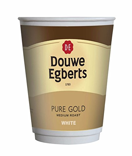 Douwe Egberts Pure Gold White Coffee 12oz in Cup Fresh Seal Drinks [Sleeve of 10 Cups] (10)