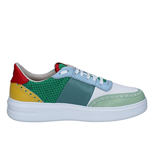 Verde Sneakers Pelle Brimarts Uomo Bianco Tessuto x60qqOwZ