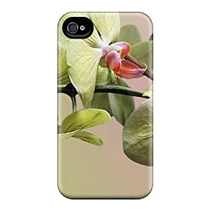 Durable Defender Case For Iphone 4/4s Tpu Cover(orchids Green)
