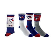 Toronto Blue Jays Men's 3-Pack Crew Socks