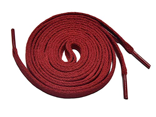 (Knixmax Flat Shoelaces for Sneakers Athletic Shoe Laces Boots Trainers Red 54/55 Inches)