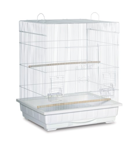 Prevue Hendryx Parakeet - Prevue Pet Products Square Top Parakeet Cage, White