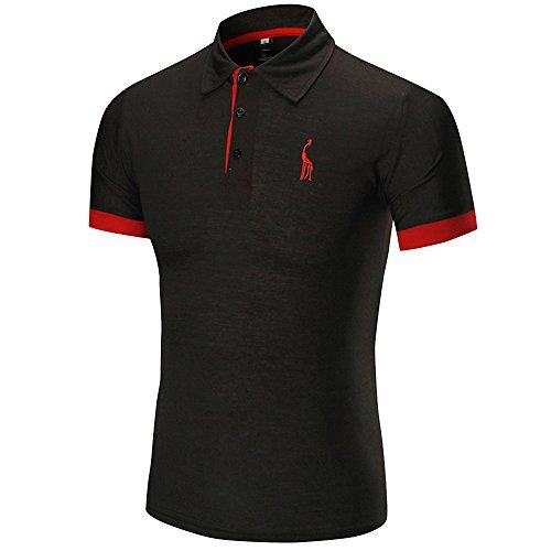 Buena Polo para Hombre Manga Corta Moda Lujo Jirafa Bordado Contraste  Collar Golf Camiseta Hombres Polos 95617e8c9d2e