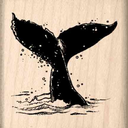 Stamps by Impression Whale Flukes Rubber Stamp