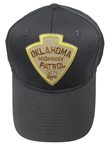 Highway Patrol Hats - Oklahoma Highway Patrol Patch Snap Back Ball Cap - Black Hat