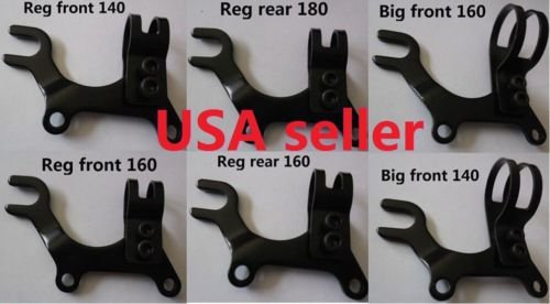 Bike Disc brake bracket frame adaptor bicycle REG / BIG / XL 3 sizes for 140mm /160mm /180mm disc brake rotor (Reg 1/2-7/8 inch for front 160mm rotor)