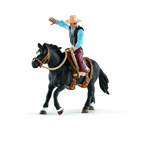 ca Saddle Bronc Riding with Cowboy Playset (Horse And Rider)
