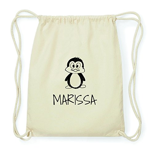 JOllipets MARISSA Hipster Turnbeutel Tasche Rucksack aus Baumwolle Design: Pinguin oO0I9AFyFy