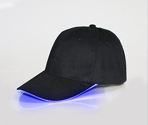 VIPAMZ Hands Free Black Hat with Headlamp/blue LED Lights/Unisex Baseball Cap/Easily Adjustable/One Size Fits All/Flashlight for Hunting, Jogging, Angling and Mor (Lamp Floor Adjustable Club)