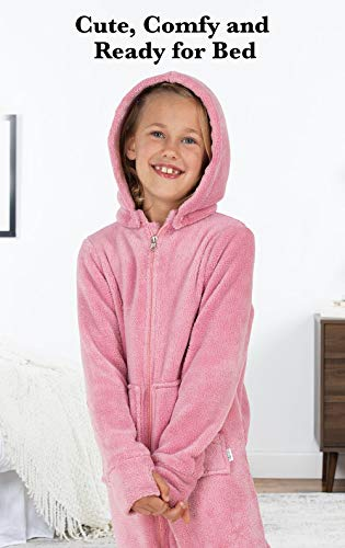 PajamaGram Hoodie-Footie Fleece Zip-Front Onesie Pajamas 745ffbc1e