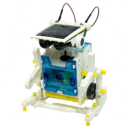 41PMZIPBk6L - 14-in-1 Educational Solar Robot   Build-Your-Own Robot Kit   Powered by the Sun
