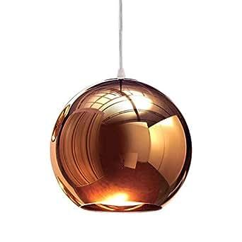 LED Ball Globe Iluminación Colgante de Bronce que Cuelga la Lámpara de Techo Accesorios Cobre 20cm