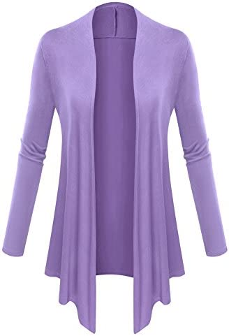 AM CLOTHES Women Plus Size Open Front Lightweight High Low Drape Cardigan 0f51fa9b2