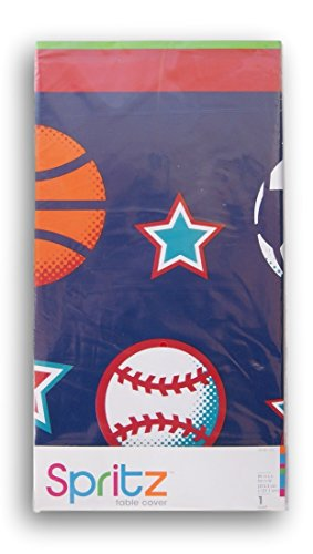 All Star Sports Table (Spritz Classic Party Table Cover - Sports Theme - 54