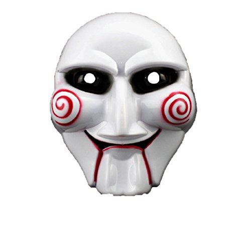 PhoebeTan Halloween Cosplay Saw Plastic Masks (1 pce)