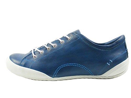 Andrea Conti Sneakers 0340559 Vrouwen Leer Half-schoenen Kant, Schoenen Maat: 38; Color: Blue