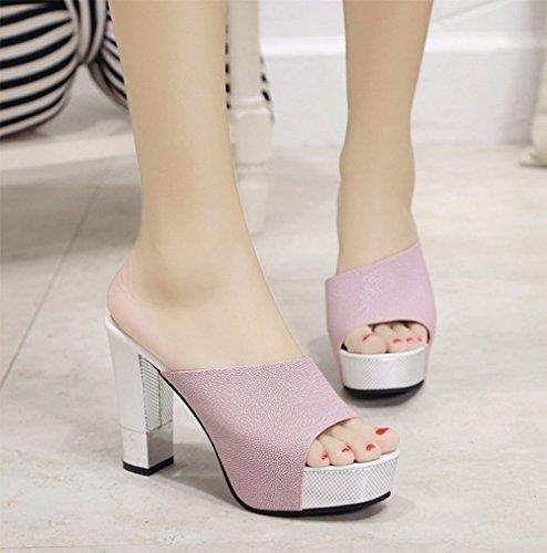 weiwei Lignés Haut Summer Ladies Talon A de Pantoufles Baises Fashion Pantoufles Cool vYqaxrnBv