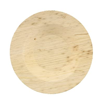 """CiboWares Premium 3.5"""" Bamboo Leaf Cocktail Plate Round, Eco-Friendly and Disposable for Home and Catering, Package of 50"""