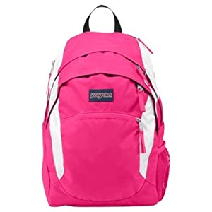 JanSport Wasabi Backpack, Pink Tulip/White