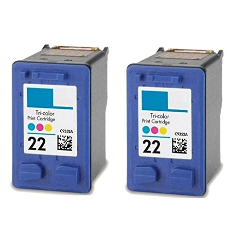 Remanufactured Ink Cartridge Replacement for C9352A XL (HP 22) (2 Color 2 Pack)