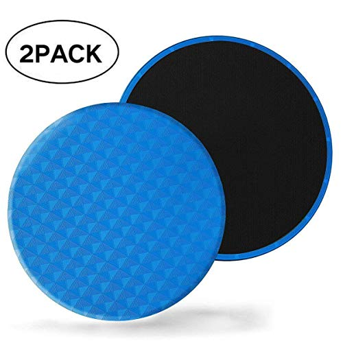 Exercise Core Sliders -sliding Discs, set of 2 Gliding Discs - Dual Sided for Carpet or Hardwood Floors - Carpet and Hardwood Floors Home Abdominal Exercise Equipment