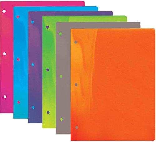 Bazic Multi Color 2 Pockets Poly Portfolio 48 pcs sku# 311370MA by Bazic