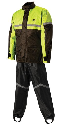 Nelson-Rigg Stormrider Rain Suit (Black/High Visibility Yellow, - Wet Sizing Suit