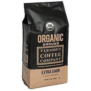 Vermont Coffee Company®, Extra Dark Roast, Ground Arabica Coffee, Organic, Non-GMO, 10oz. Bag