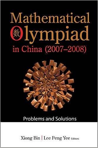 Amazon com: Mathematical Olympiad in China 2007-2008