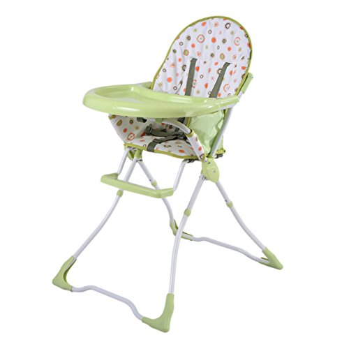 Costzon Baby High Chair Infant Toddler Feeding Booster Seat Folding Safe Portable (Green) by Costzon