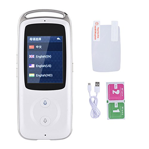 Yosoo- 2.4-inch TFT Touch Screen Handheld Small and Exquisite Smart Real Time WIFI Voice Translator 18 Languages Multilingual Travel Translator Ideal Choice for Senior Citizens (白色) by Yosoo- (Image #8)