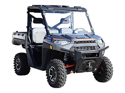 SuperATV Heavy Duty Clear Full Windshield for Polaris Ranger Full Size XP 900/900 Crew (2013+) - Installs in 5 Minutes!