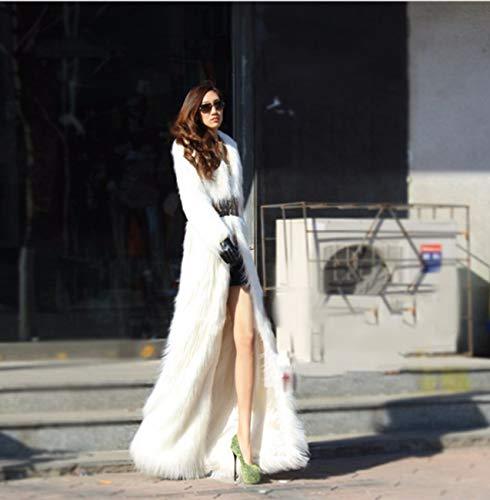 Vtements Chaude L d'automne Longues Manteau White Manches Femme Huaishu Hiver Veste Moelleux fpnw5006q