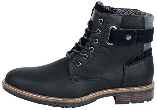 EU40 Nero Boot Stivali Black Anfibi Refresh qXC06wx
