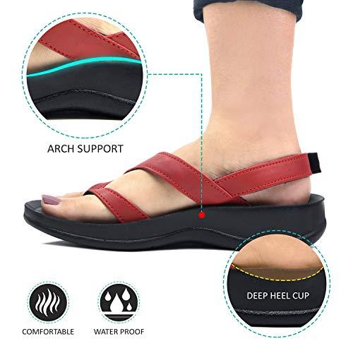 6ec5338fd6 Amazon.com | Aerosoft - Sandals for Women - Arch Supportive | Flip-Flops