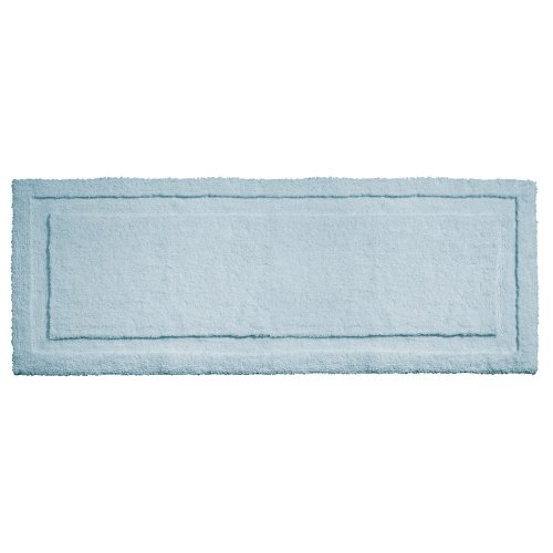InterDesign Microfiber Spa Bathroom Shower and Tub Accent Rug, 58 x 21, Water by InterDesign