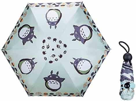 ebc6cec318fd4 Totoro Umbrella Mini Umbrella Cute Cat Female Totoro Ttk Waterproof Uv Sun  5 Folding Parasol Travle