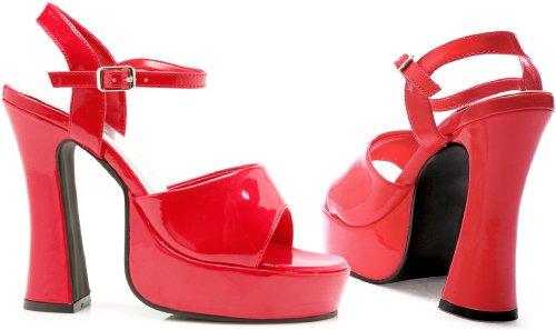 Morris Costumes Platform Lea Red Size 13 -