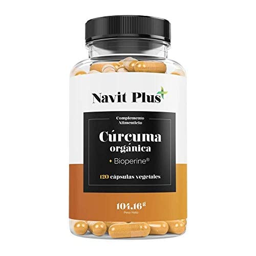 chollos oferta descuentos barato Cúrcuma Orgánica 1490mg con BioPerine Suplemento Nº 1 en Cúrcuma Antioxidante natural 120 cápsulas vegetales con ingredientes de máxima calidad Cúrcuma ecológica 100 natural ISO 9001