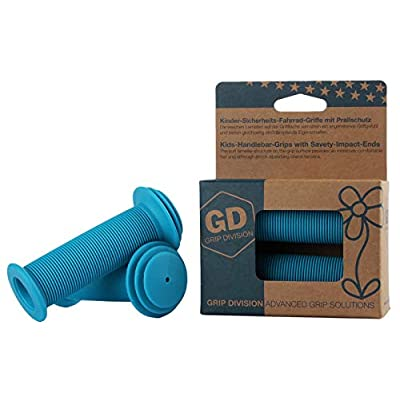 GD Grip Division Kids Bike Grips with Impact Protection for Balance Bikes, Scooters, and Childrens BMX Bicycle Handlebars (Pair) - Blue: Toys & Games