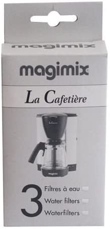 Magimix - Juego de 3 filtros de agua para cafetera de goteo ...