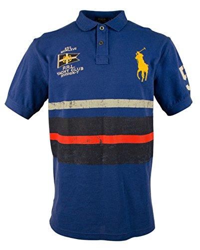 (Polo Ralph Lauren Classic-Fit Nautical Polo Shirt - M - Blue)