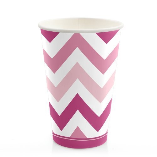 Chevron Pink Cold Drinking count