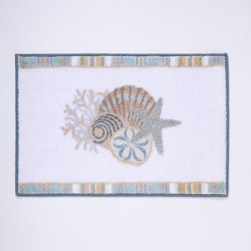 beach themed bath mat