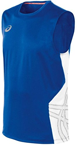 ASICS Men's Team Performance Volleyball Sleeveless Tee, Royal/White, ()