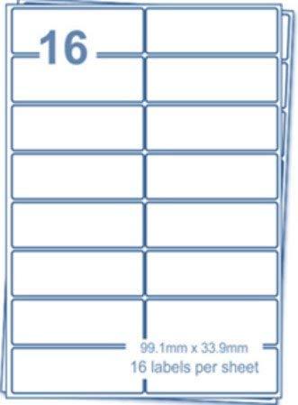 🌟 EJRange 16 etiquetas por hoja A4, 100 hojas 1600 ...