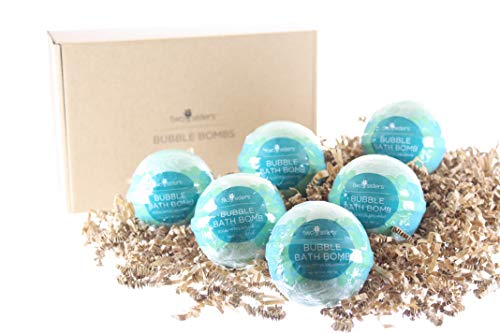 (6 Eucalyptus Spearmint Bubble Bath Bombs by Two Sisters Spa - USA Made Large Lush Spa Fizzy. Handmade.)